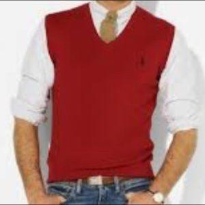 Polo Ralph Lauren Red Sweater Vest